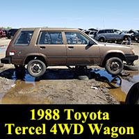 Junkyard 1988 Toyota Tercel 4WD Wagon
