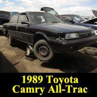 Junkyard 1989 Toyota Camry Alltrac