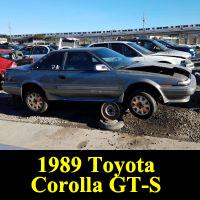 Junkyard 1989 Toyota Corolla GT-S