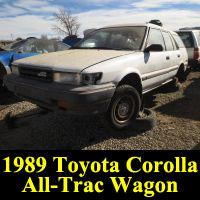 Junkyard 1989 Toyota Corolla All-Trac Wagon