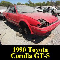 Junkyard 1990 Toyota Corolla GT-S