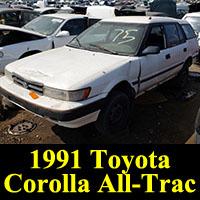 Junkyard 1991 Toyota Corolla All-Trac Wagon