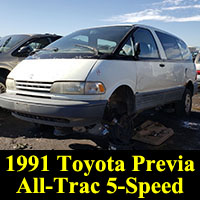 Junkyard 1992 Toyota Previa All-Trac