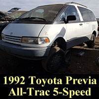 Junkyard 1992 Toyota Previa