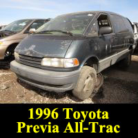 Junkyard 1996 Toyota Previa Alltrac