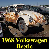 Junkyard 1968 Volkswagen Beetle