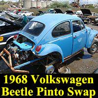 Junkyard 1968 Volkswagen Beetle with Pinto Beans swap