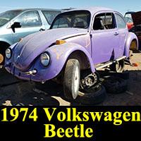 Junkyard 1974 Volkswagen Beetle