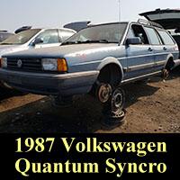Junkyard 1987 VW Quantum Syncro