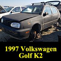 Junkyard 1997 Volkswagen Golf K2