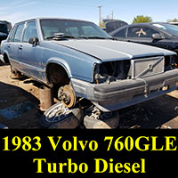 Junkyard 1983 Volvo 760GLE Turbodiesel sedan