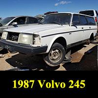 Junkyard 1987 Volvo 240 Volvo Station Wagon