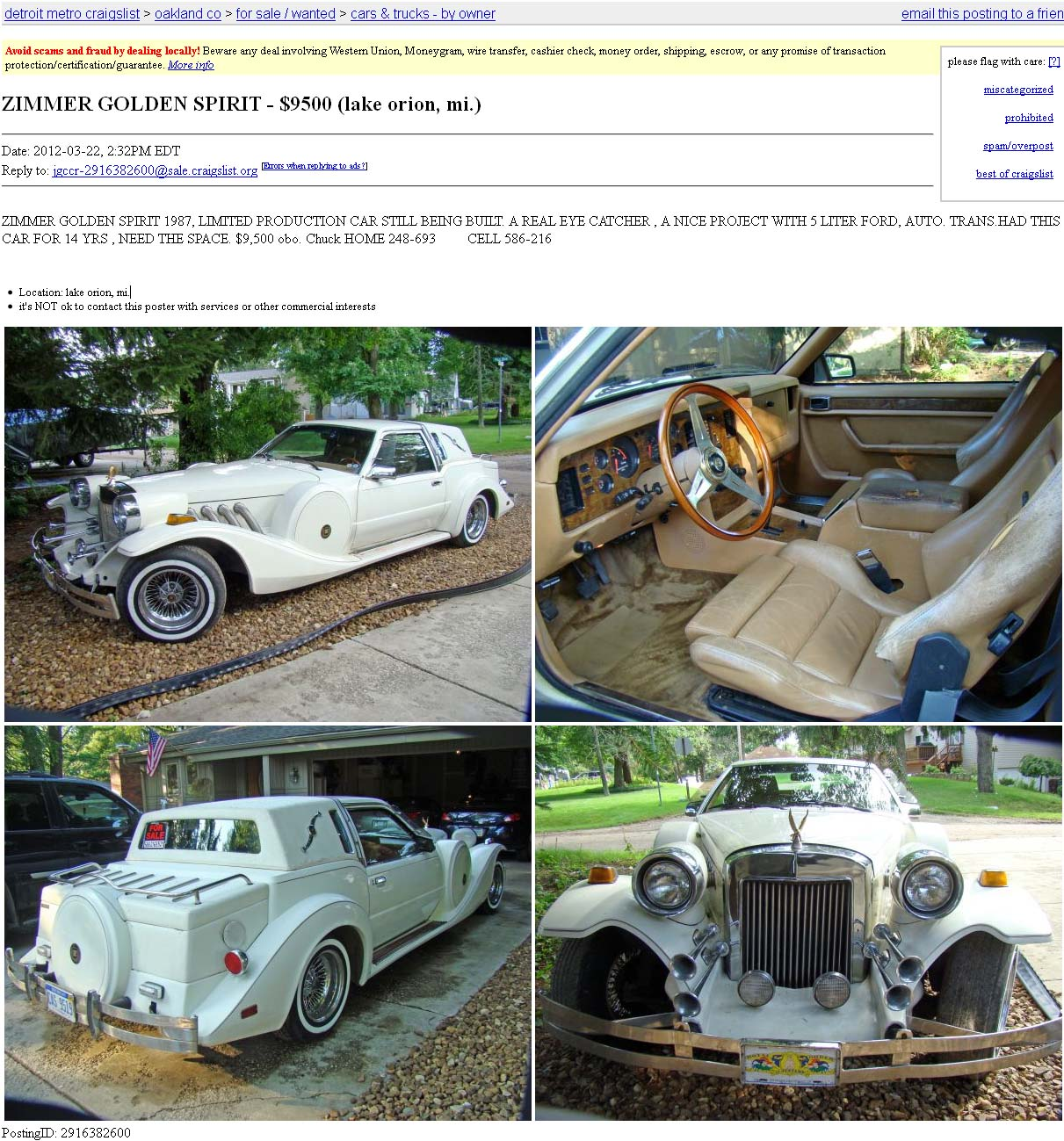 Project Car Hell, Luxo-Bling Edition: Stutz Blackhawk or Zimmer