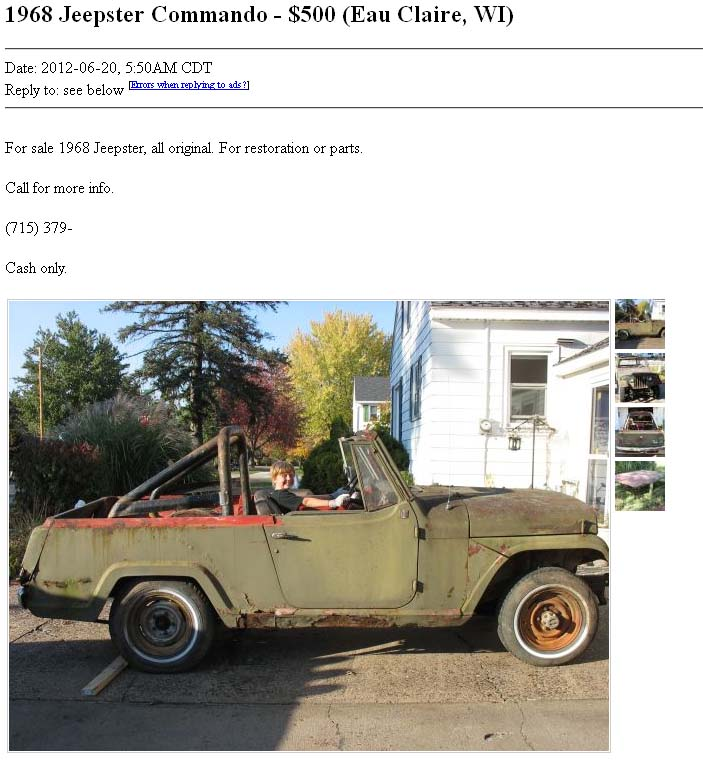 Craigslist 1971 Jeepster Commando For Sale.html