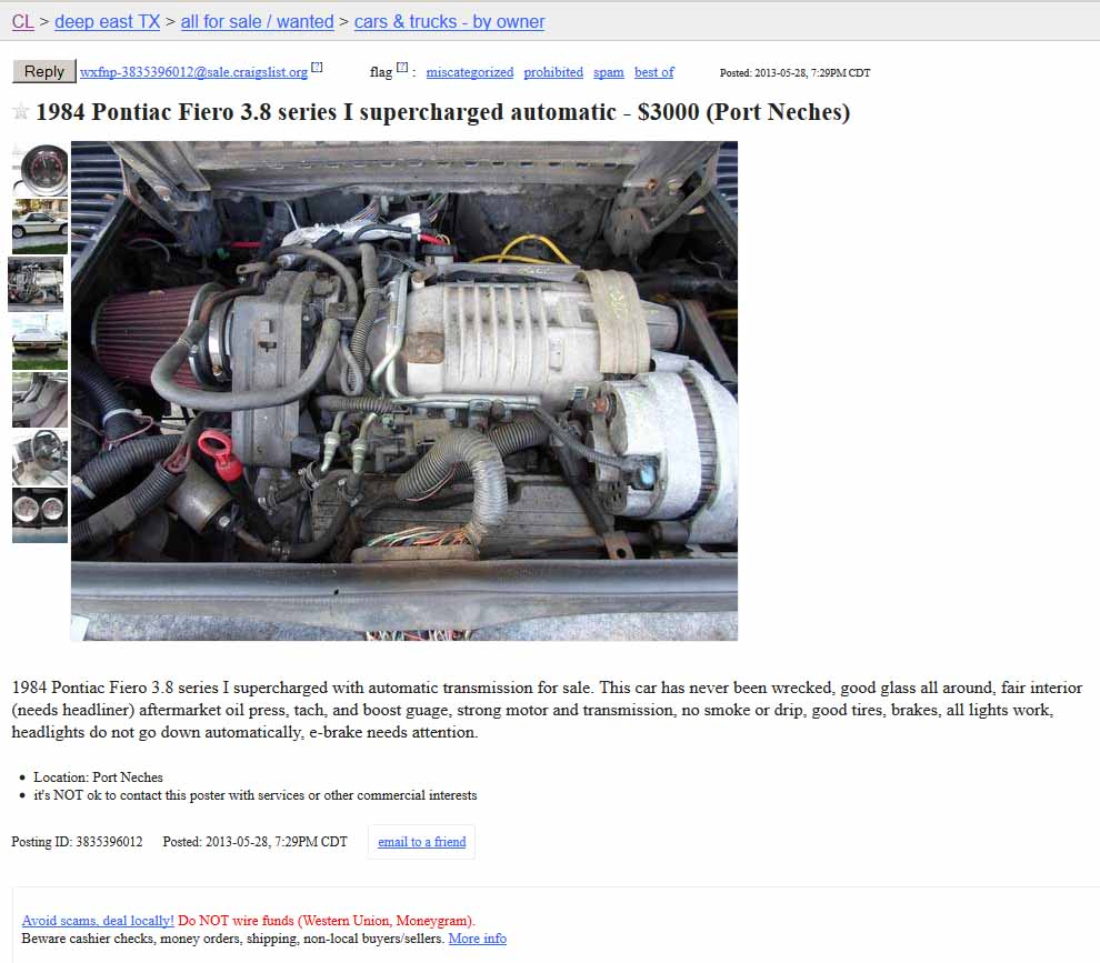 Project Car Hell Overpowered Fieros Edition V8 Fiero Or Pontiac Automatic Transmissions Supercharged V6