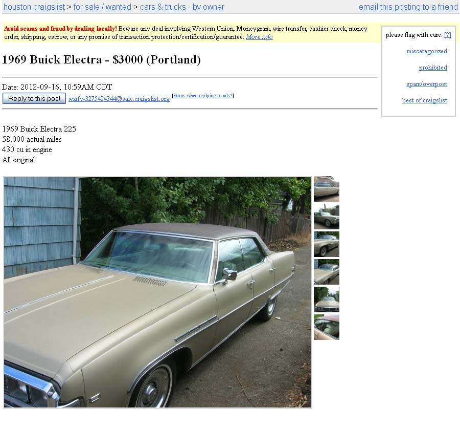 1969 Buick Electra 225 For Sale: Project Car Hell, Kings Of Rap Edition: Chuck D's Olds 98